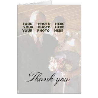 Gracias foto del boda tarjeta pequeña
