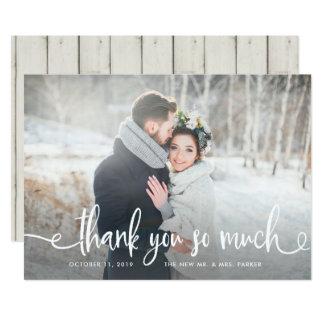 Gracias foto rústica moderna del boda del | invitación 12,7 x 17,8 cm