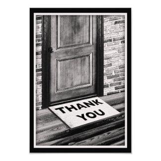 gracias fotografía de la estera de puerta comunicado personalizado