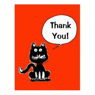 ¡Gracias! (gato divertido) Postal
