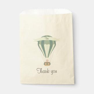 """""""gracias"""" globo azul del aire caliente del favor bolsa de papel"""