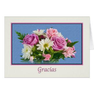 Gracias, Gracias, español Tarjeta De Felicitación