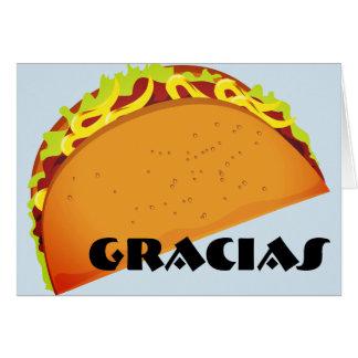 GRACIAS (gracias) Tarjeta De Felicitación