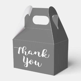 Gracias gris del banquete de boda del gris y del caja de regalos