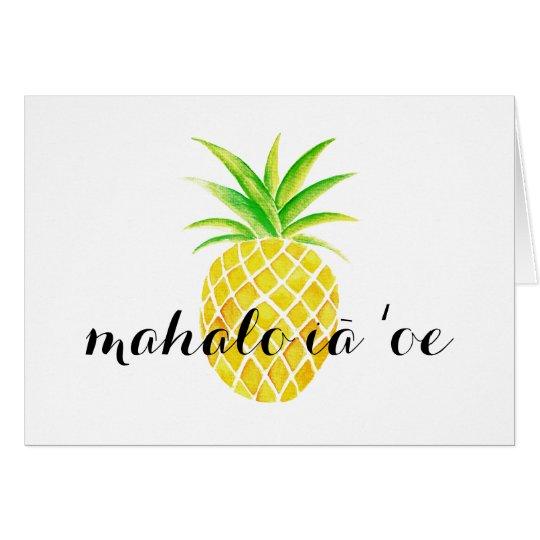 Gracias hawaianas del ʻoe del iā del mahalo de la tarjeta pequeña