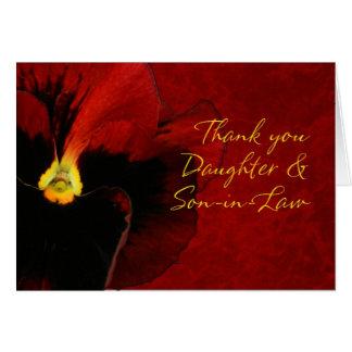 Gracias hija y yerno tarjetas