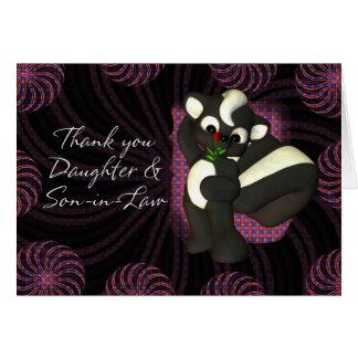 Gracias hija y yerno felicitacion