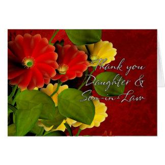 Gracias hija y yerno tarjeta de felicitación