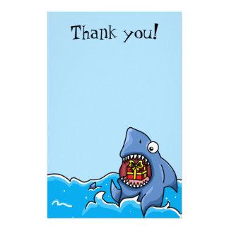 Gracias inmóvil adaptable del actual tiburón  papeleria