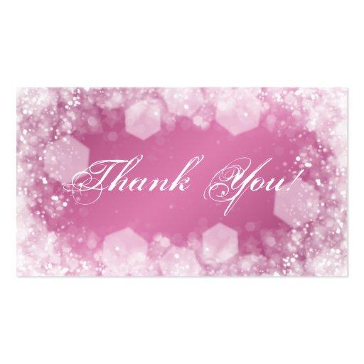 Gracias insertar rosa de la chispa de la noche de plantilla de tarjeta de visita