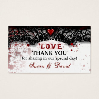 Gracias invitación de boda de la salpicadura de la