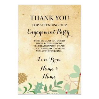 Gracias invitación de boda de papel rústica del