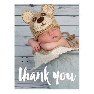 Postal Gracias invitación del nacimiento del bebé de la