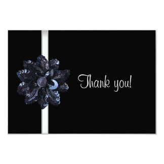 Gracias ir de fiesta 40.o fabuloso de la flor invitación 8,9 x 12,7 cm