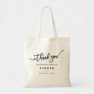 Gracias la bolsa de asas del regalo de boda