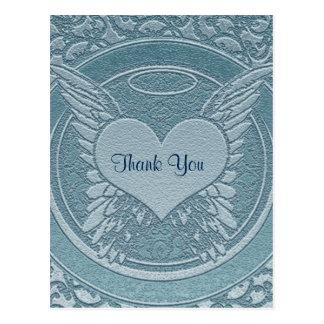 Gracias la condolencia el | del | azul claro postal