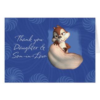 Gracias la hija y el yerno 6 tarjeta de felicitación