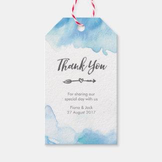 Gracias las etiquetas del favor del boda en
