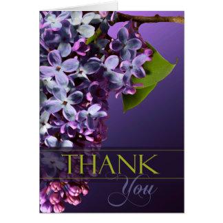 Gracias las flores florales de la tarjeta del