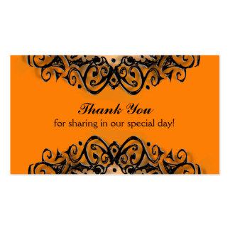 Gracias las invitaciones de boda - amor de tarjetas de visita