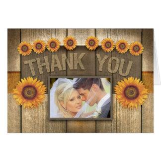 gracias las invitaciones de boda de la foto del tarjeta de felicitación