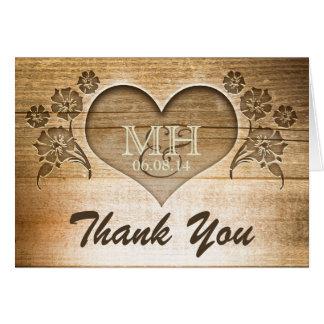 gracias las invitaciones de boda de madera tarjeta pequeña