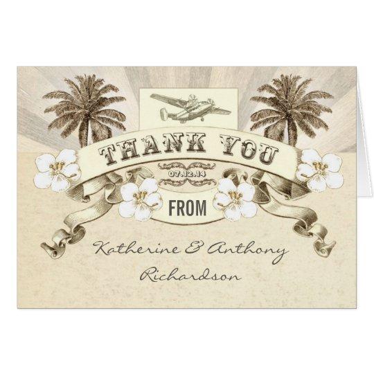 gracias las invitaciones de boda del destino tarjeta pequeña