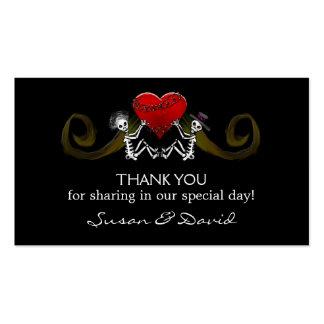 Gracias las invitaciones de boda - esqueletos que tarjetas de visita