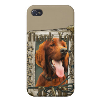 Gracias - las patas de piedra - Irish Setter - pap iPhone 4/4S Carcasas