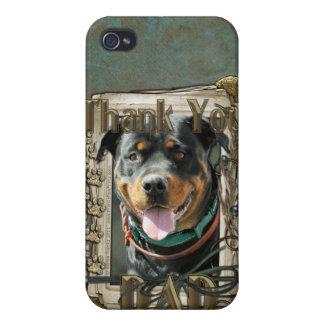 Gracias - las patas de piedra - papá de Rottweiler iPhone 4 Funda