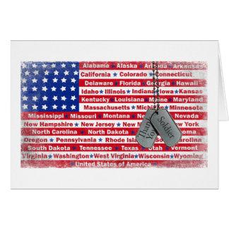 Gracias las placas de identificación del soldado tarjeta