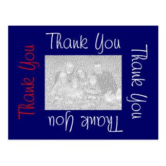 Gracias las postales blanco y azul rojos