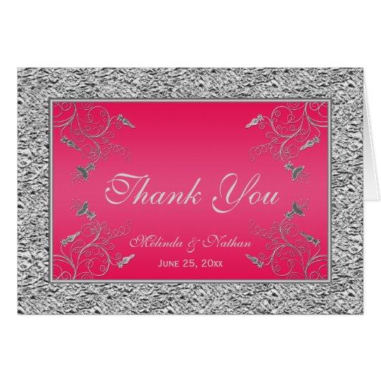 Gracias las rosas fuertes de la tarjeta de nota el