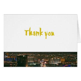 Gracias las tarjetas del borde de Las Vegas