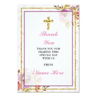 Gracias las tarjetas florales cruzadas santas