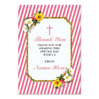 Gracias las tarjetas florales de la raya coralina