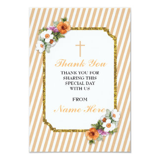 Gracias las tarjetas florales de la raya religiosa