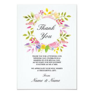 Gracias las tarjetas florales de las flores del