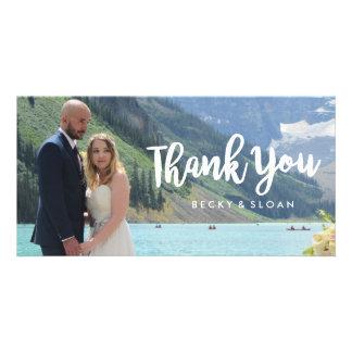 Gracias las tarjetas \ los BODAS de la foto Tarjeta Personal
