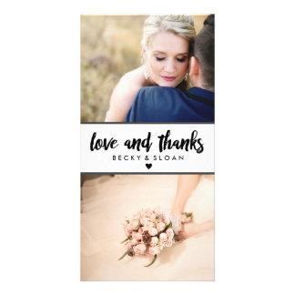 Gracias las tarjetas \ los BODAS de la foto Tarjetas Con Fotos Personalizadas