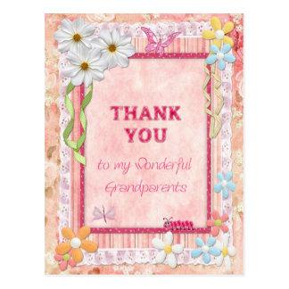 Gracias los abuelos, tarjeta del arte de las postal