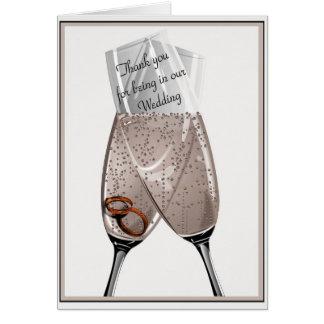 Gracias los asistentes del boda tarjeta de felicitación