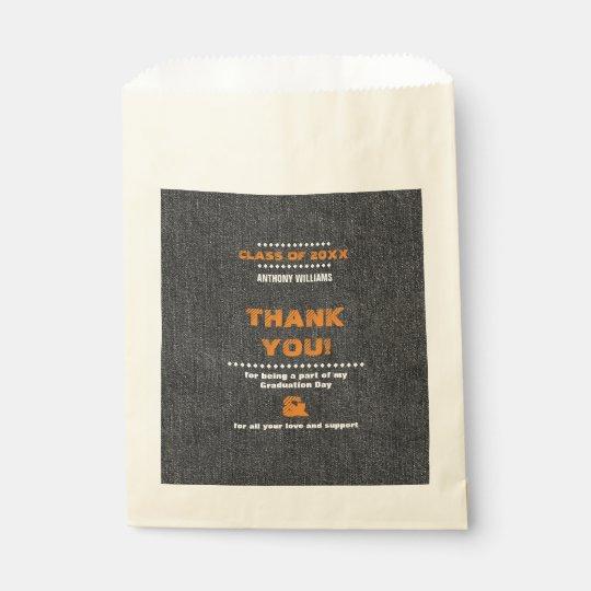 Gracias los bolsos de encargo del favor de la bolsa de papel