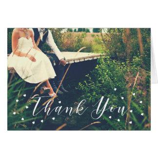 Gracias los corazones de las invitaciones de boda tarjeta pequeña