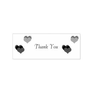 Gracias los corazones sello de caucho