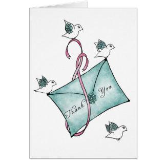 Gracias los pájaros tarjetas