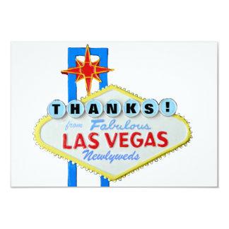 Gracias los recienes casados de Las Vegas Invitación 8,9 X 12,7 Cm