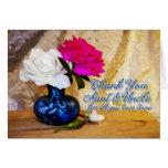 Gracias los rosas por tía y tío felicitaciones