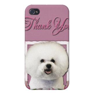 Gracias - los tulipanes rosados - Bichon Frise iPhone 4/4S Fundas