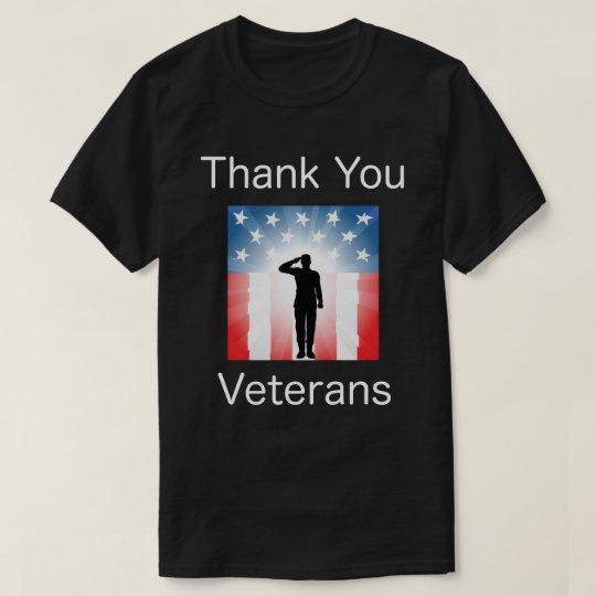 Gracias los veteranos, camisa del día de veterano